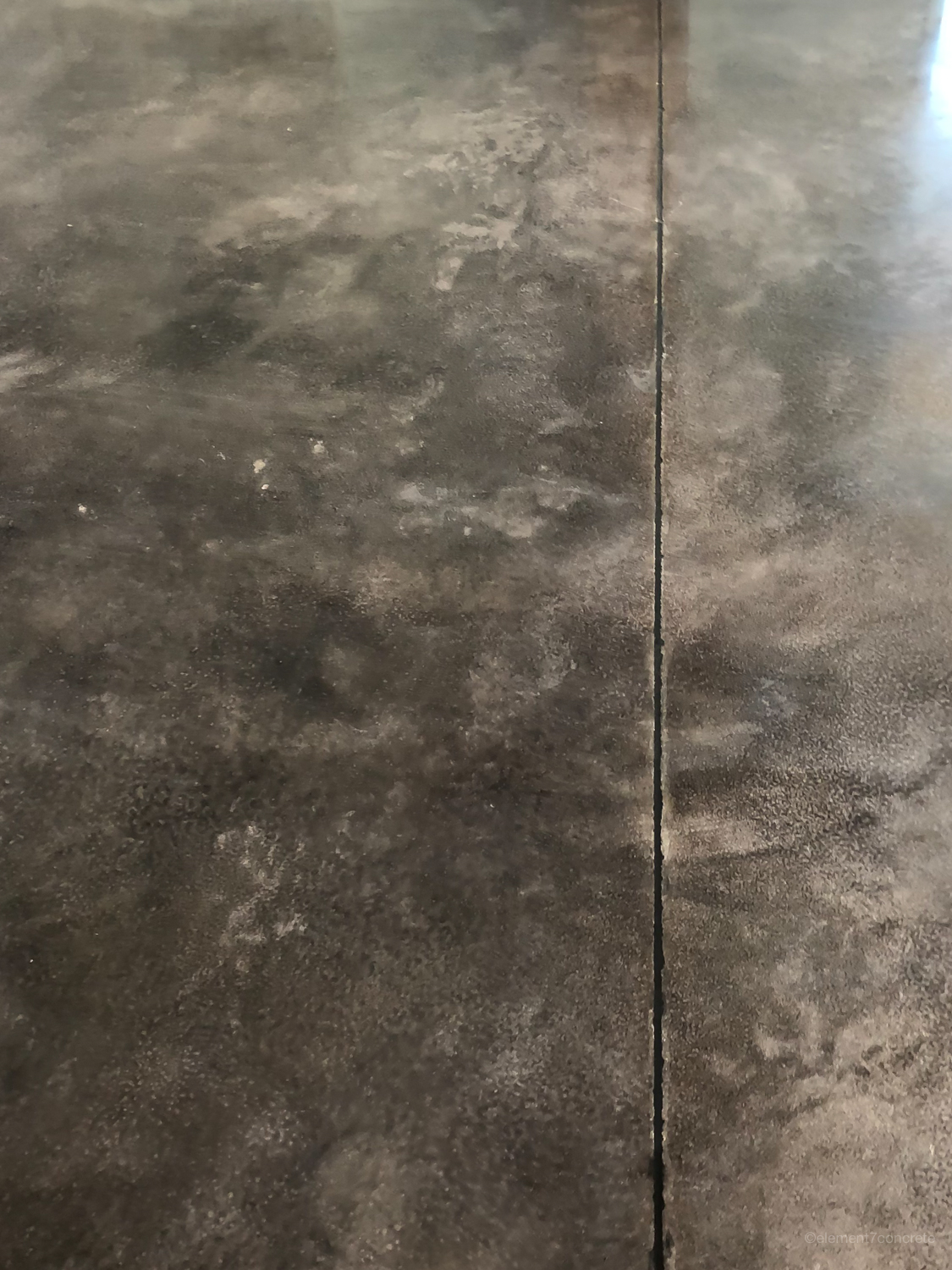 The finished result is flush with the floor. -