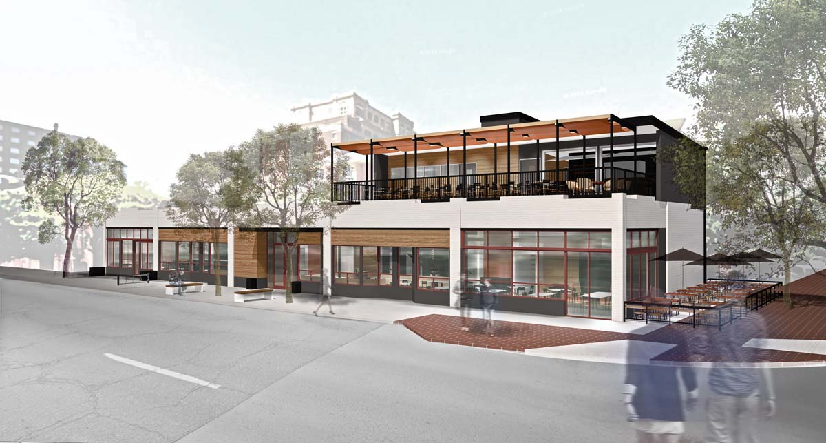 Exterior Rendering of Restaurant