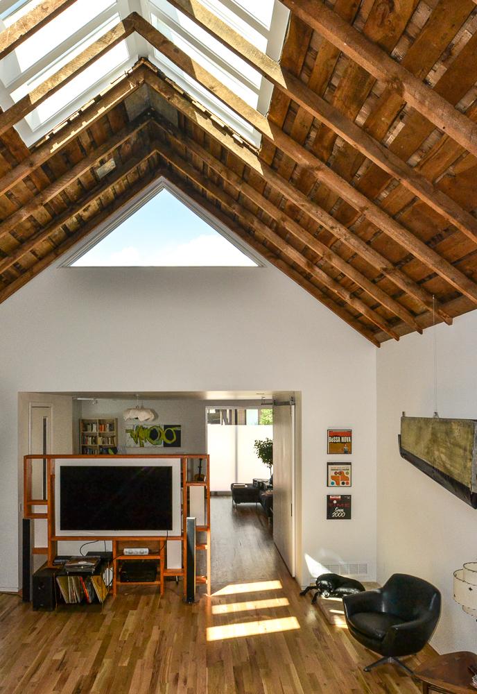 Exposed Wood Ceiling