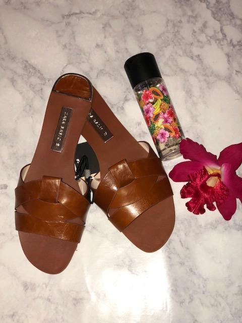 Zara Tan Slides - Price $45.90