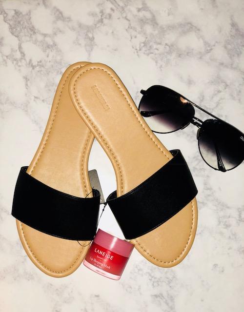Forever 21 Black Slides - $10.00