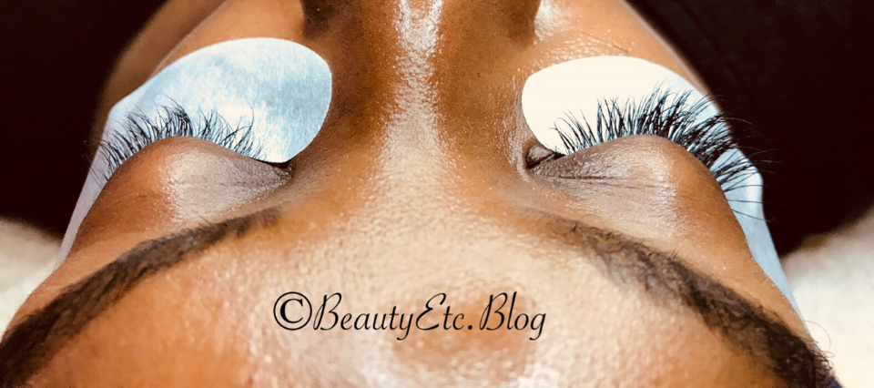 Left Side  Natural Lashes-   Right Side  Completed