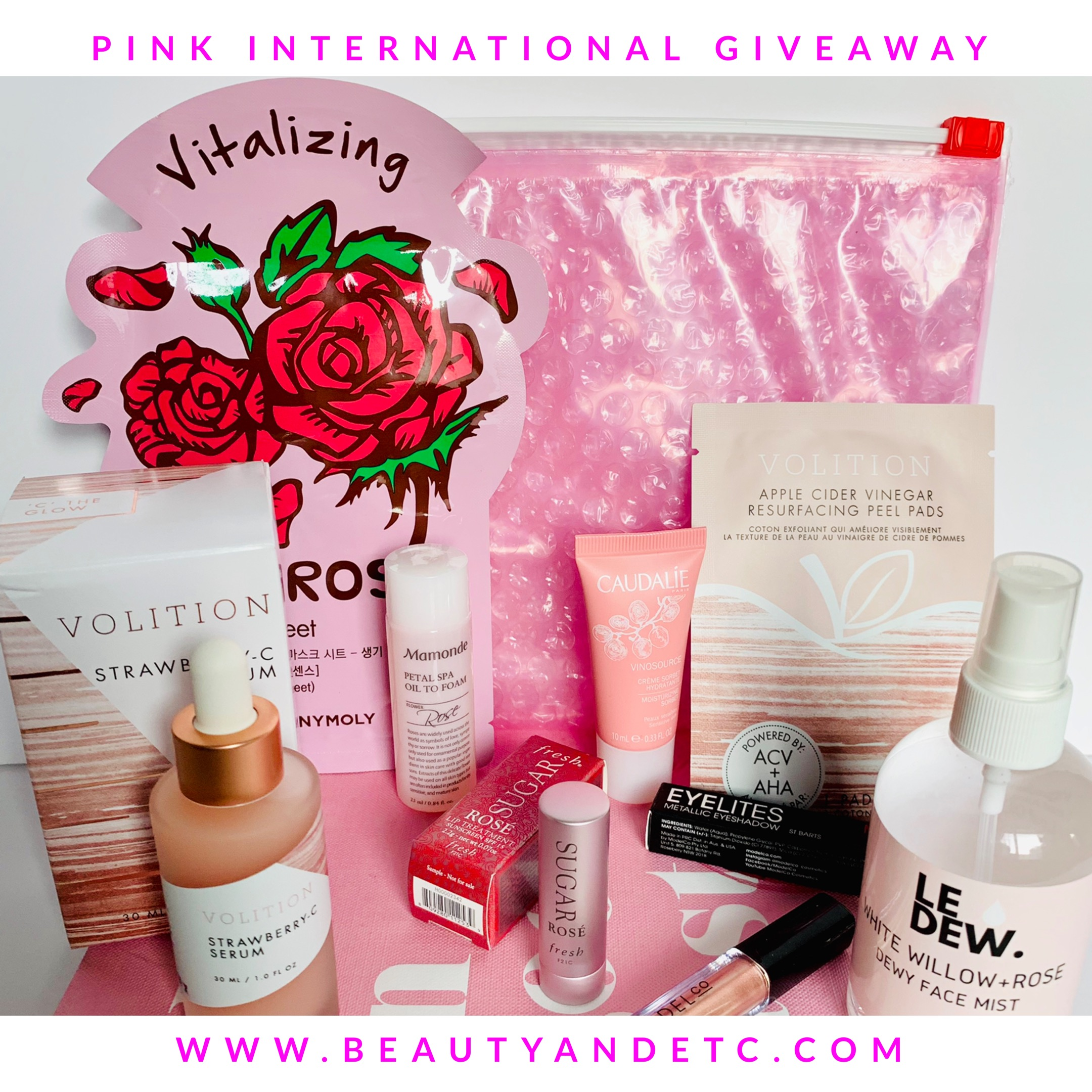Blog Giveaway - Have you entered my Pink Theme International Giveaway?