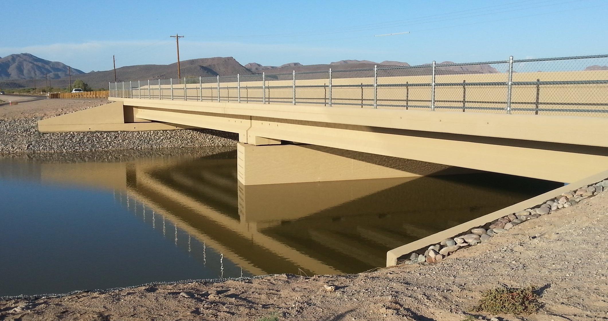 Completed Sacaton Bridge CM/GC