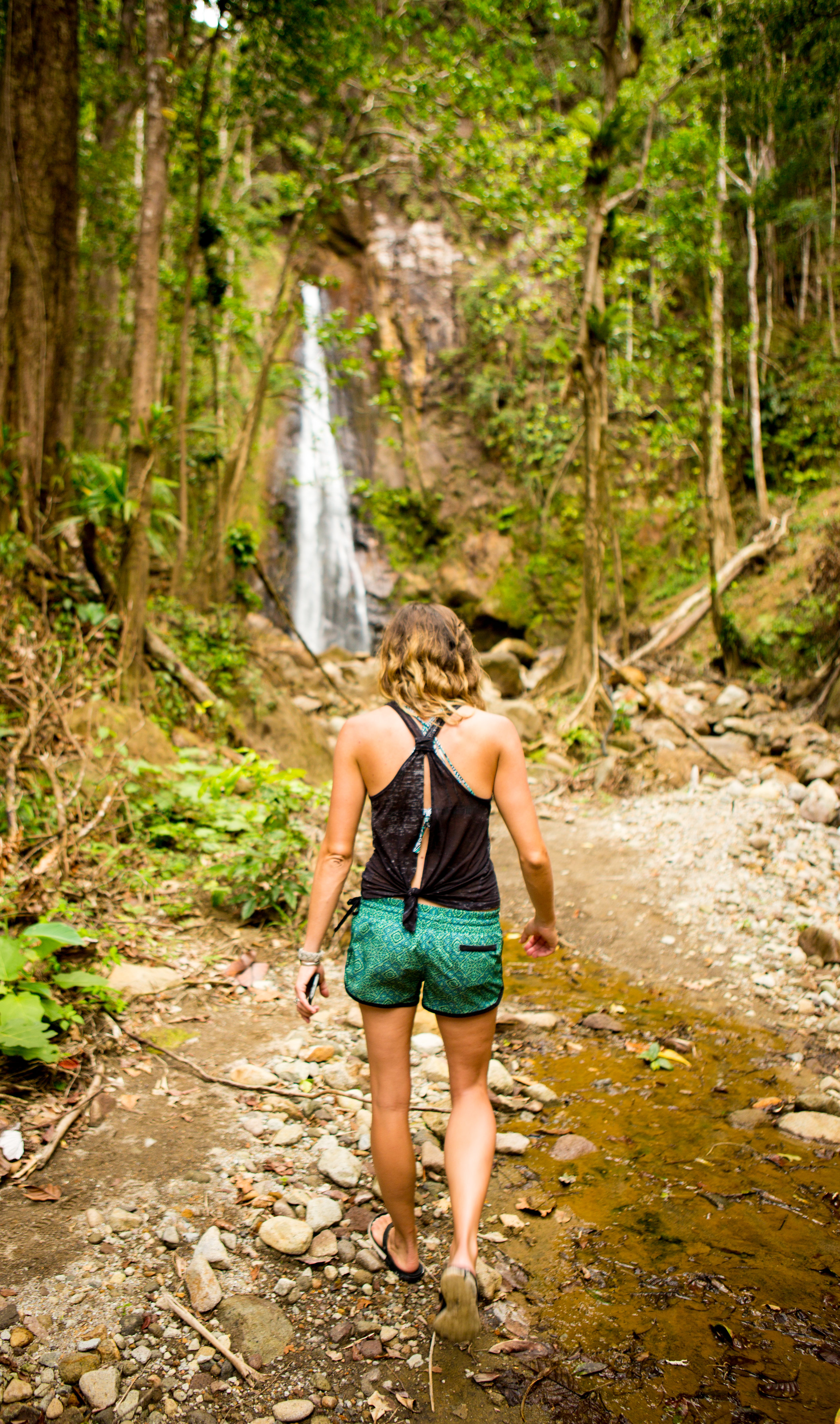 Before you get out to the actual Syndicate Waterfall, you've got to TAKE A TAXI 2.5 MILES INTO A RAINFOREST. That's half of the fun!