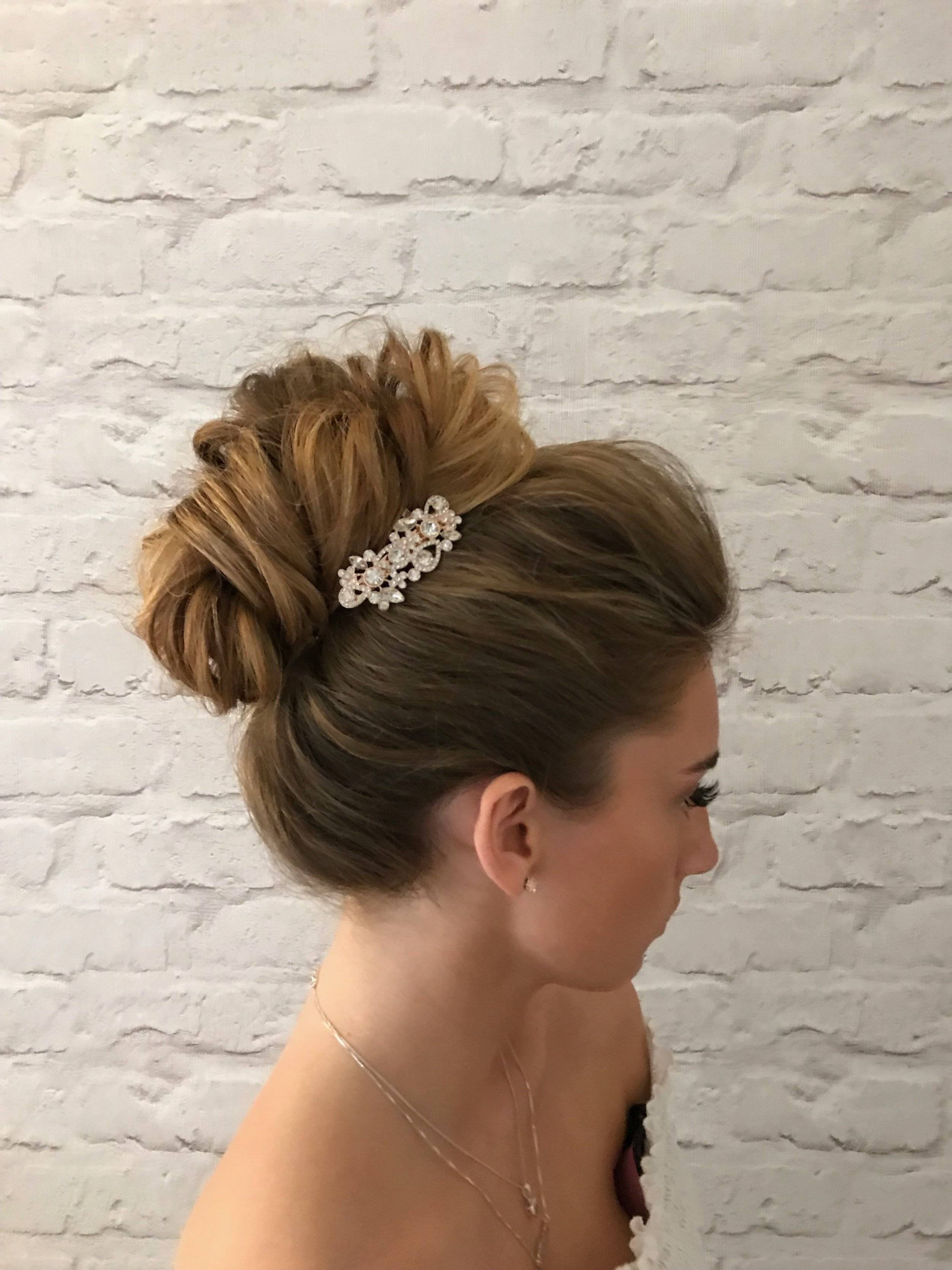 high bun vintage wedding  updo