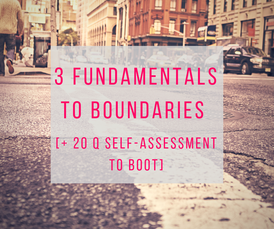 3 fundamentals to boundaries