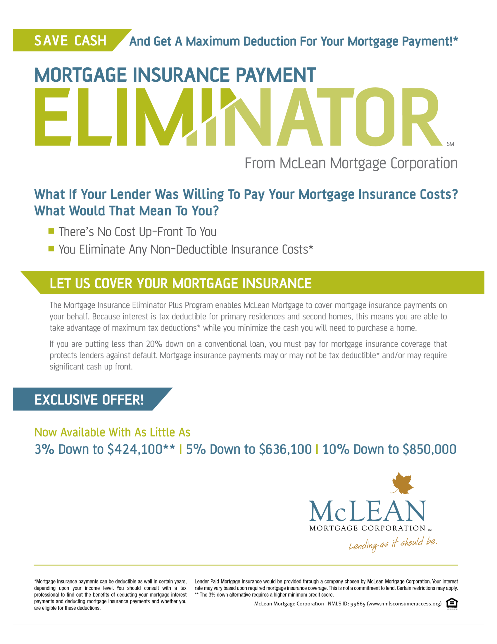Mortgage Insurance Payment Eliminator