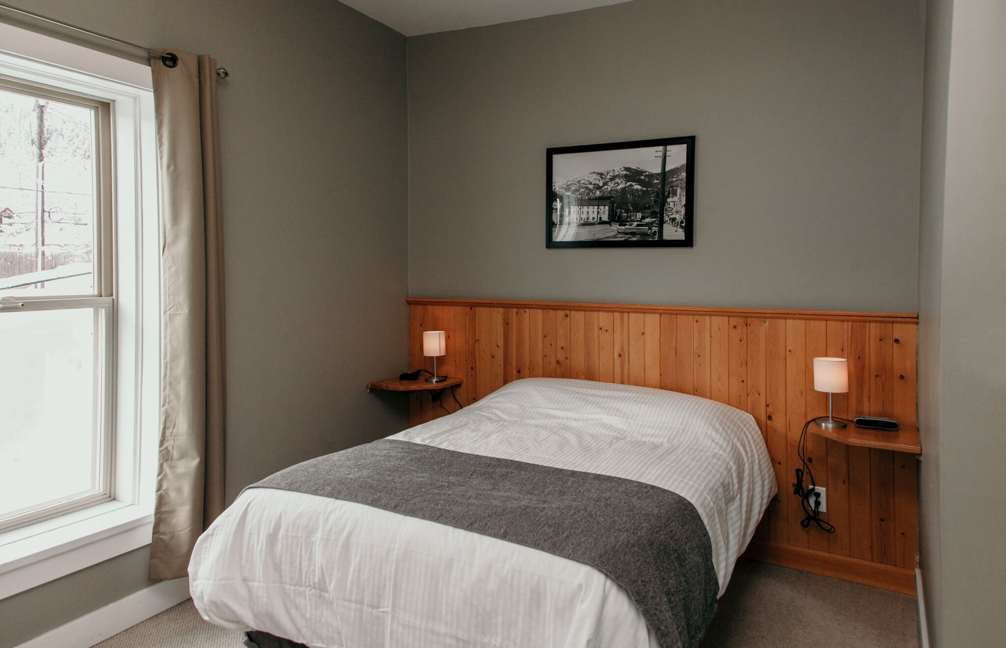 Standard Double Room, features 2 x Double Beds, bathroom, coffee, and mini fridge.