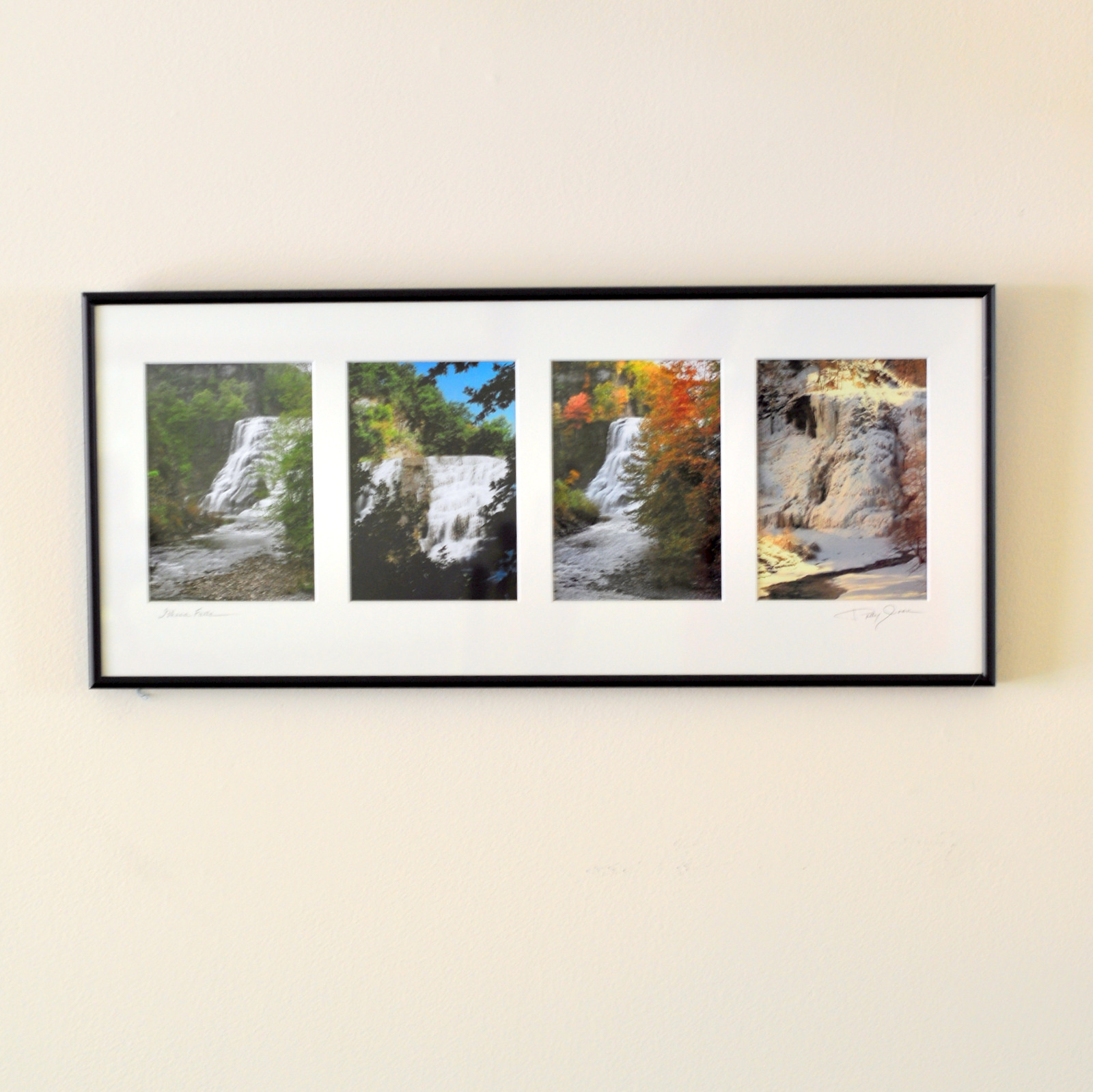 - Print dimensions are 11x25.5We use Nielsen metal frames in a matte black finish.Mats are soft white archival acid free Bainbridge.Prints are PMA mounted on acid free foam core.