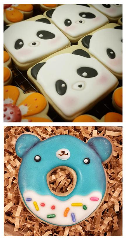Seattle Custom Cookie Decorator, Panda Bear Donut Bear Cookies