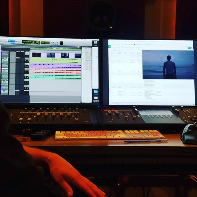 in the Sound Editing room. #sounddesign #thedeliverermovie