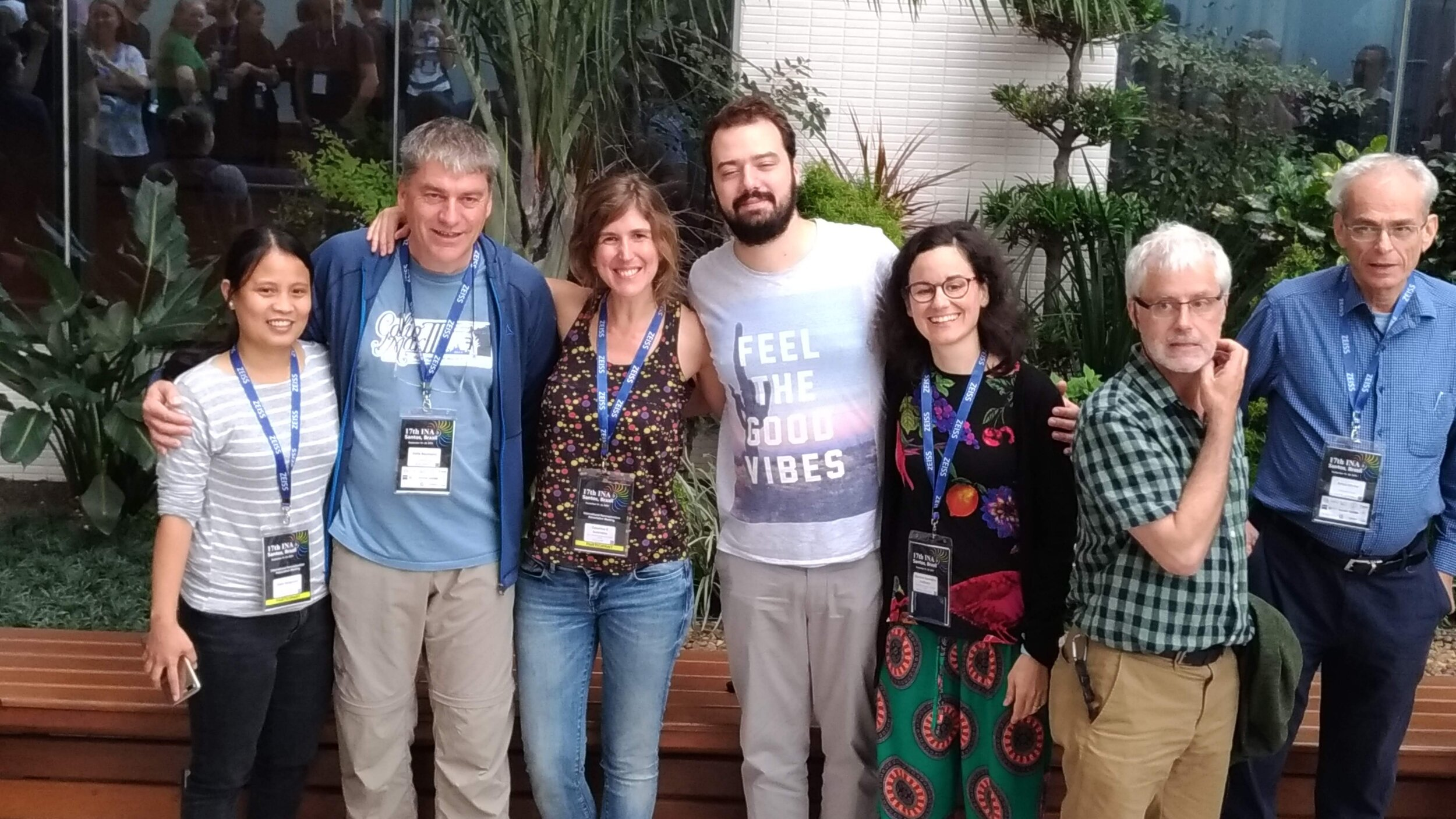 Here is the Uni-Bremen coccolithophore-team (from left to right: Deborah Tangunan, Kalle Baumann, Catarina Guerreiro, Boris Karatsolis and Mariem Saavedra), together with Jeremy Young and Amos Winter.