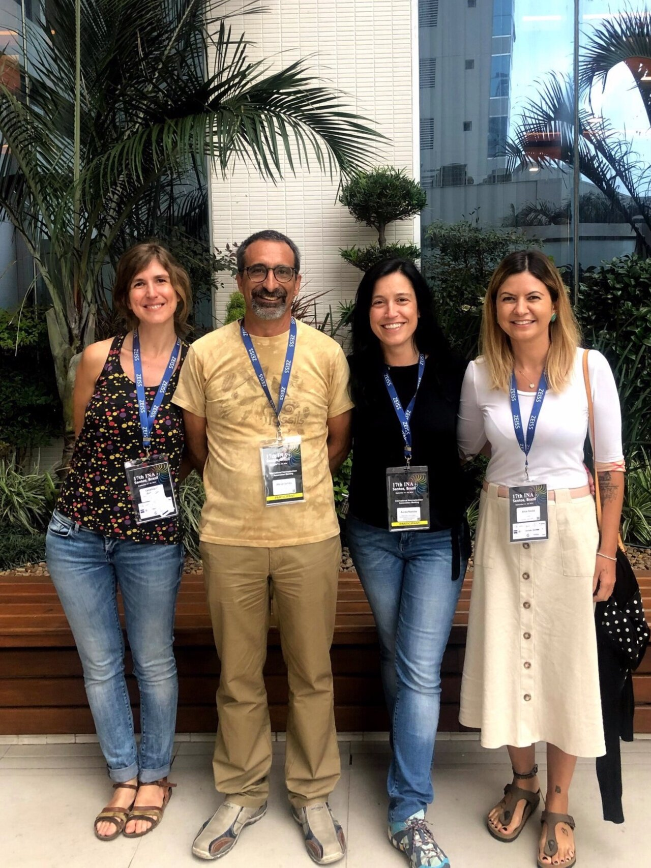 The Nanolab team from the Faculty of Sciences of the University of Lisbon (from left to right): Catarina Guerreiro, Mário Cachão, Áurea Narciso and Alice Ferreira Souza.