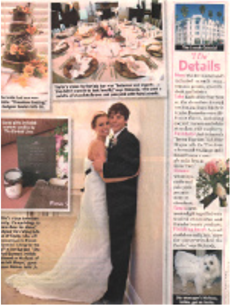 People Magazine - Niki Taylor WeddingWe are proud to have provided the