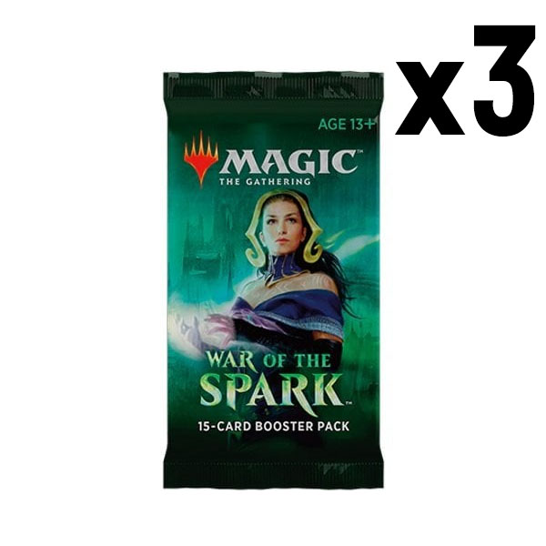MTG War of the Spark Boosters x3