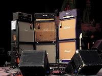 "Uh, yeah...this is actually J Mascis' amp setup. Three Marshall ""full stacks""."