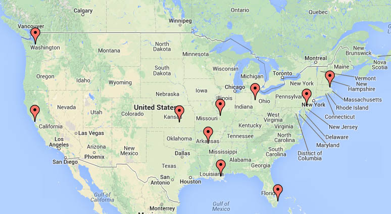 Cities in which zoo / aquarium design firms reside