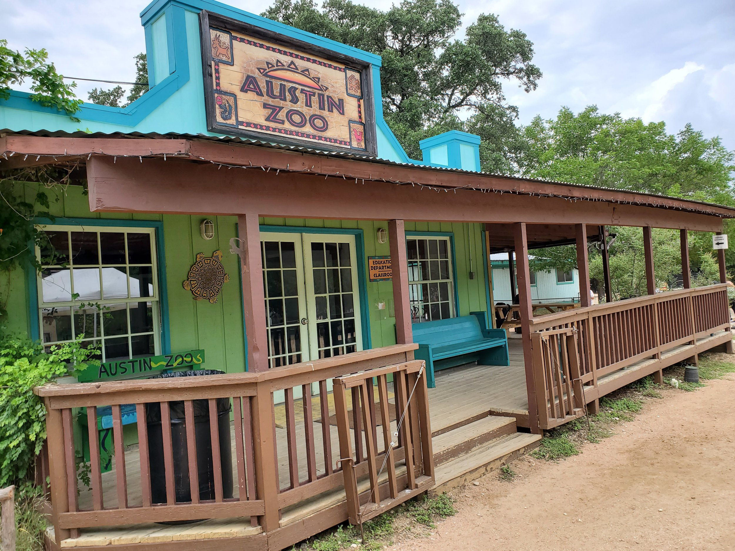 Entry and Gift Shop at Austin Zoo.