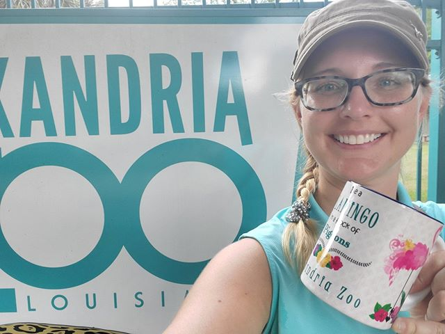 Woohoo! Stop #1: Alexandria Zoo⠀ ⠀ Thank you Director Lee Ann Whitt for your amazing hospitality! What a great little zoo!⠀ ⠀ #zootripping #ontheroad #smallandmighty #louisiana #zoo⠀ @alexandriazoo