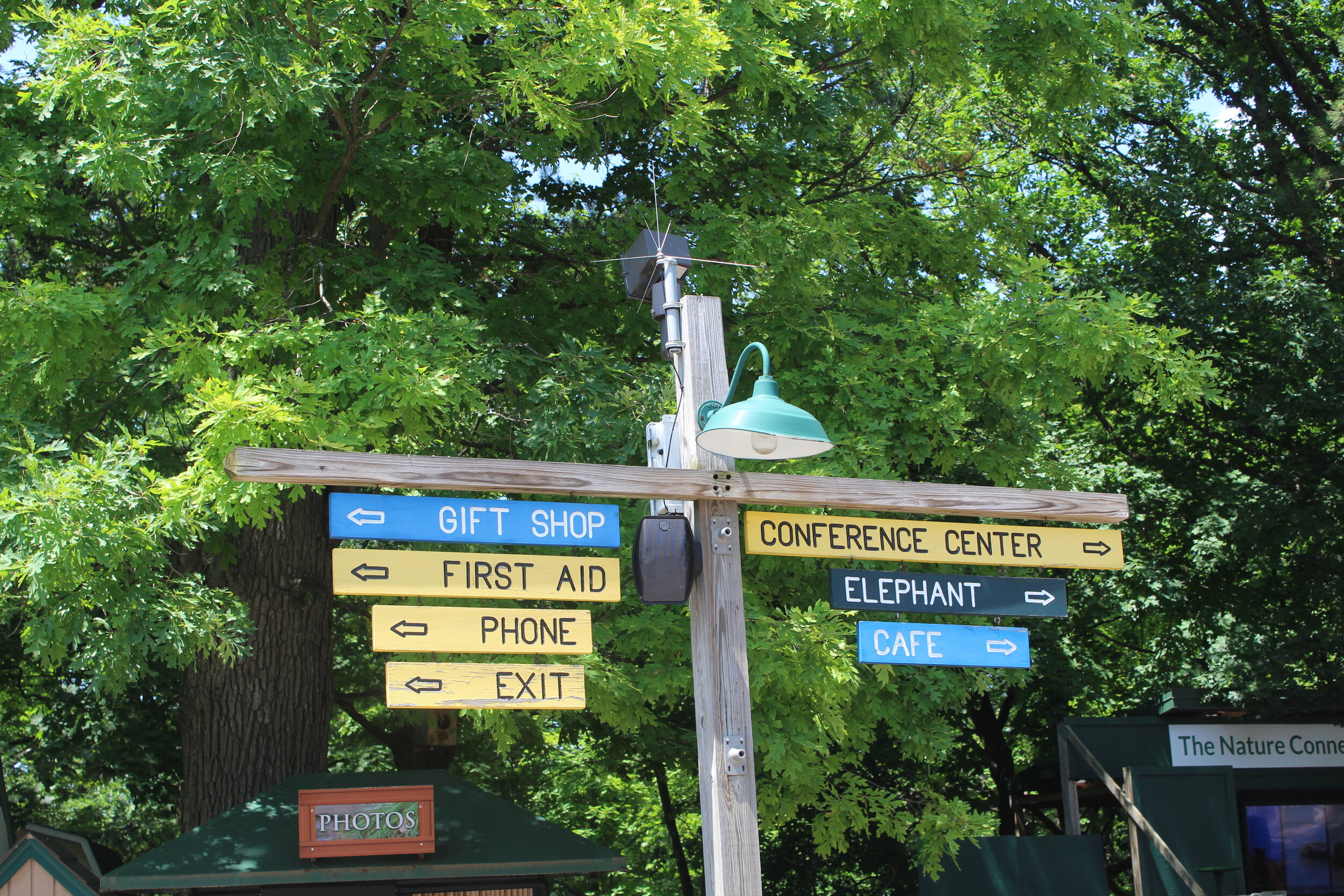 Parks-style wayfinding throughout
