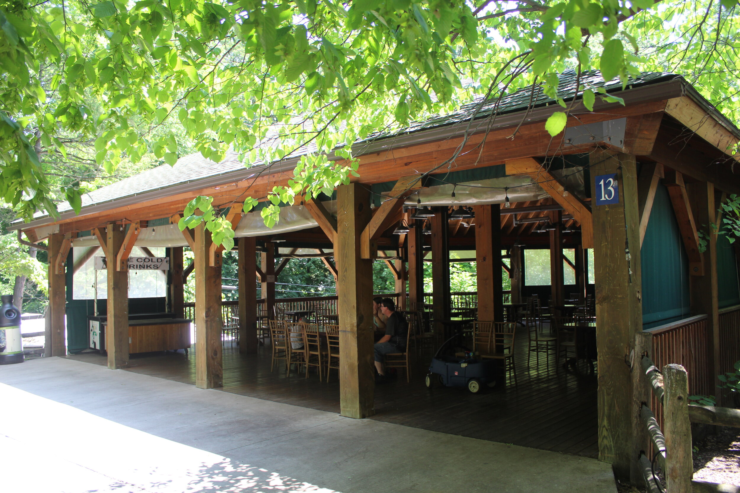 New rustic picnic shelter