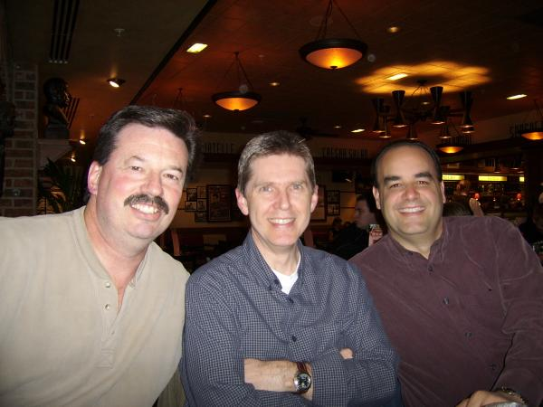Dave and Steve with old friend Dave Reimer.JPG