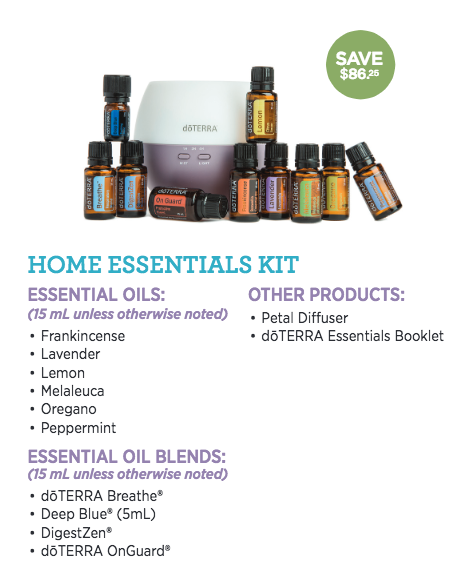 $366  / You Pay $275 - The Home Essentials kit gives you the full size of the 10 most foundational essential oils.
