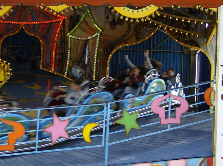 Image of the magic carpet ride in motion.