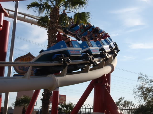 Image of riders having a blast riding the Patriot.