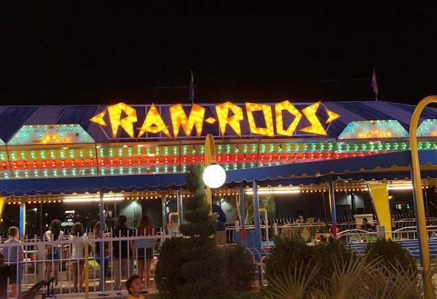 Image of Ram Rods at Night