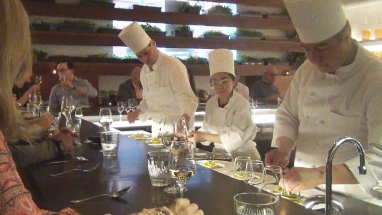 At The Tasting Counter, guests are treated to nine courses. (Image: WBZ-TV)