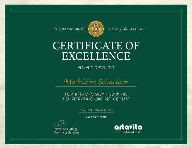 Artavita31stContest-Excellence_Certificate - Madeleine Schachter.jpg
