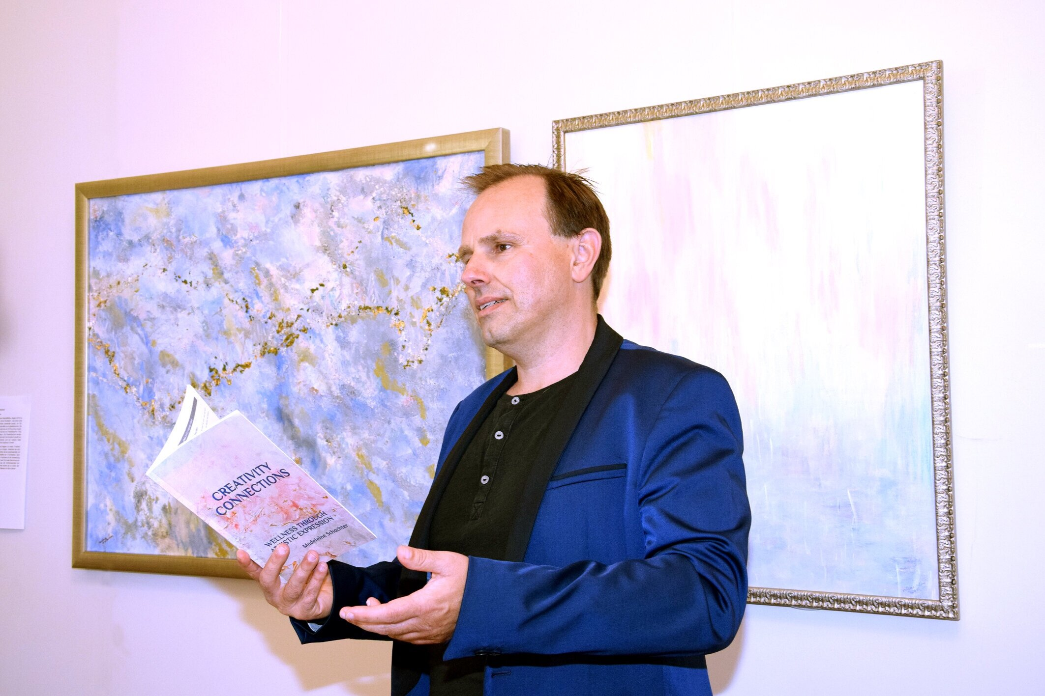Curator and Director of MAMAG Modern Art Museum Heinz Playner presents artworks of Madeleine Schachter