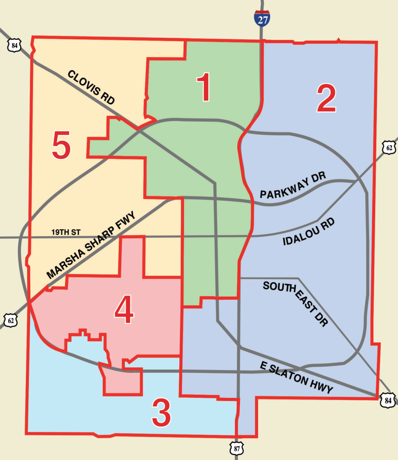 Lubbock ISD Trustee Districts - May 5 Lubbock ISD Election Ballot