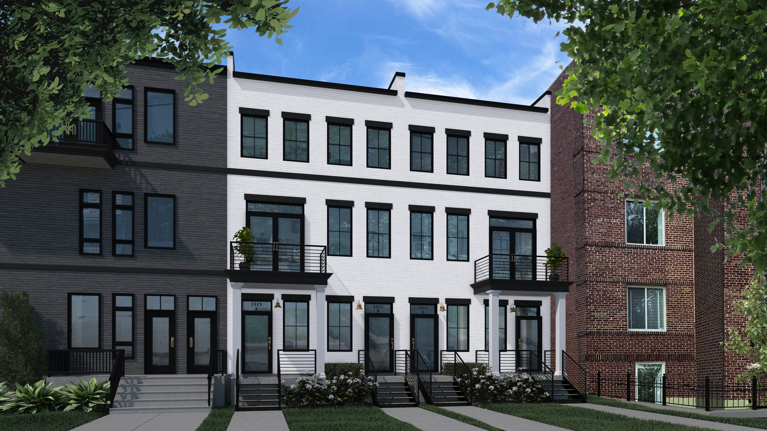 The Stevens - 5411 & 5413 9th St. NW | Brightwood ParkBreaking Ground Late 2019 | Four-unit new condominium construction