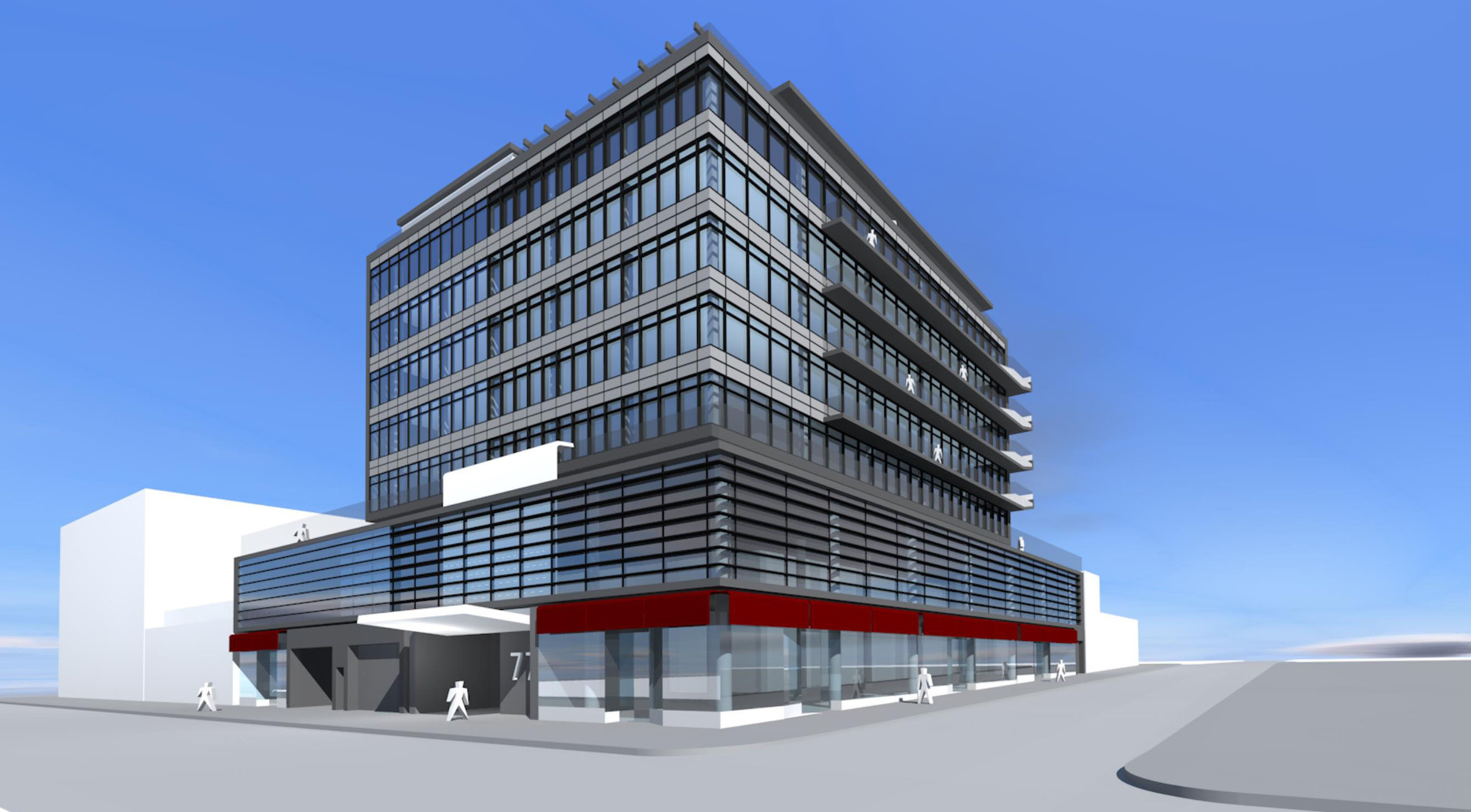 Alternate rendering of a commercial building located in Williamsburg, Brooklyn. MEP design provided by 2L Engineering firm.