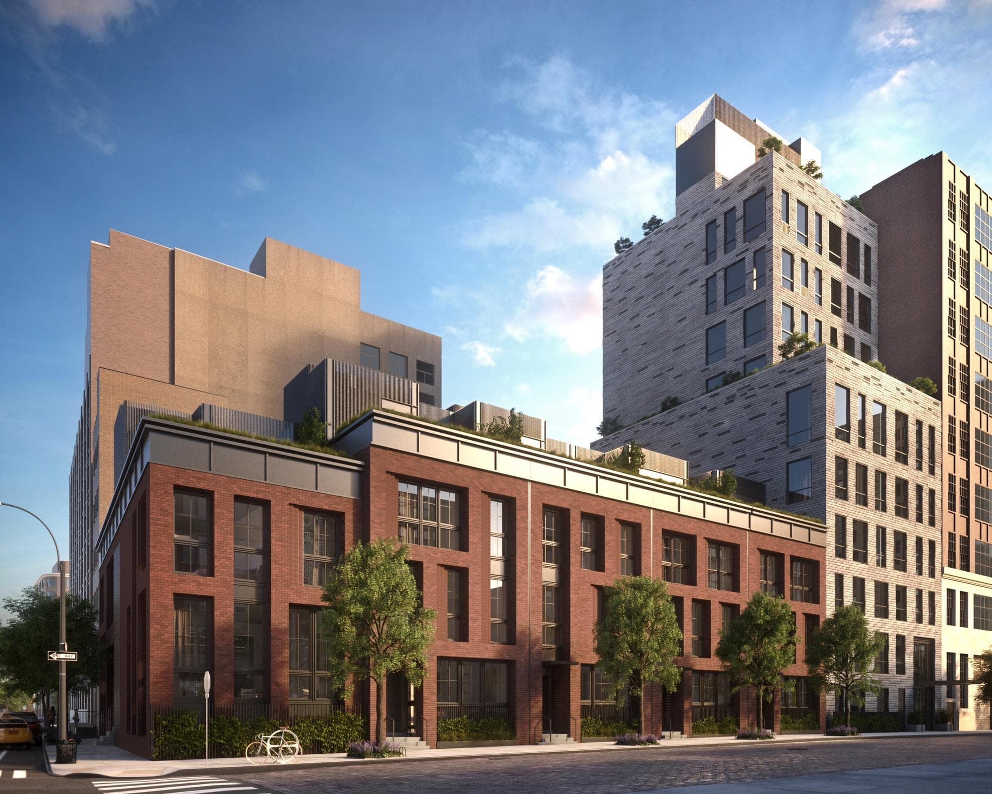 Rendering of a condominium townhouse development on 111 Leroy Street located in New York's West Village. MEP designed by 2L Engineering.