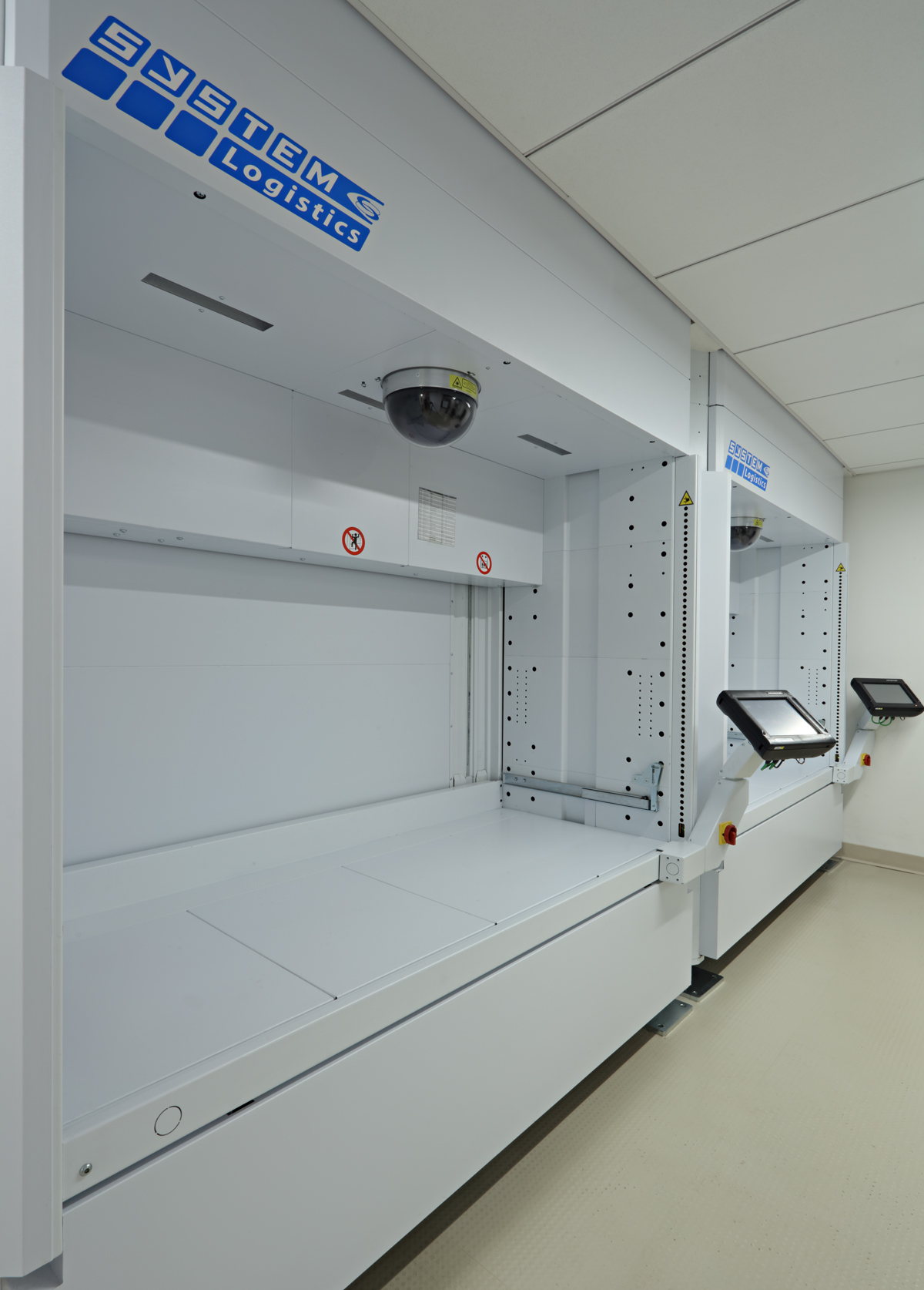 System logistics machine in the lab and office space of Symrise, New York. MEP designed by 2L Engineering.