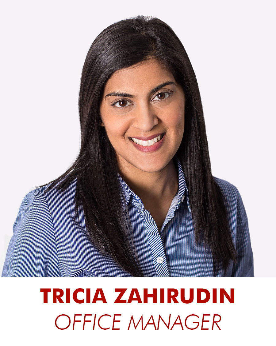 tricia zahirudin - office manager