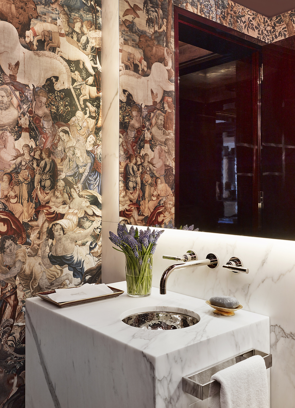 Stonefox 115 East 67th Street Powder Room Bathroom MEP designed by 2L Engineering