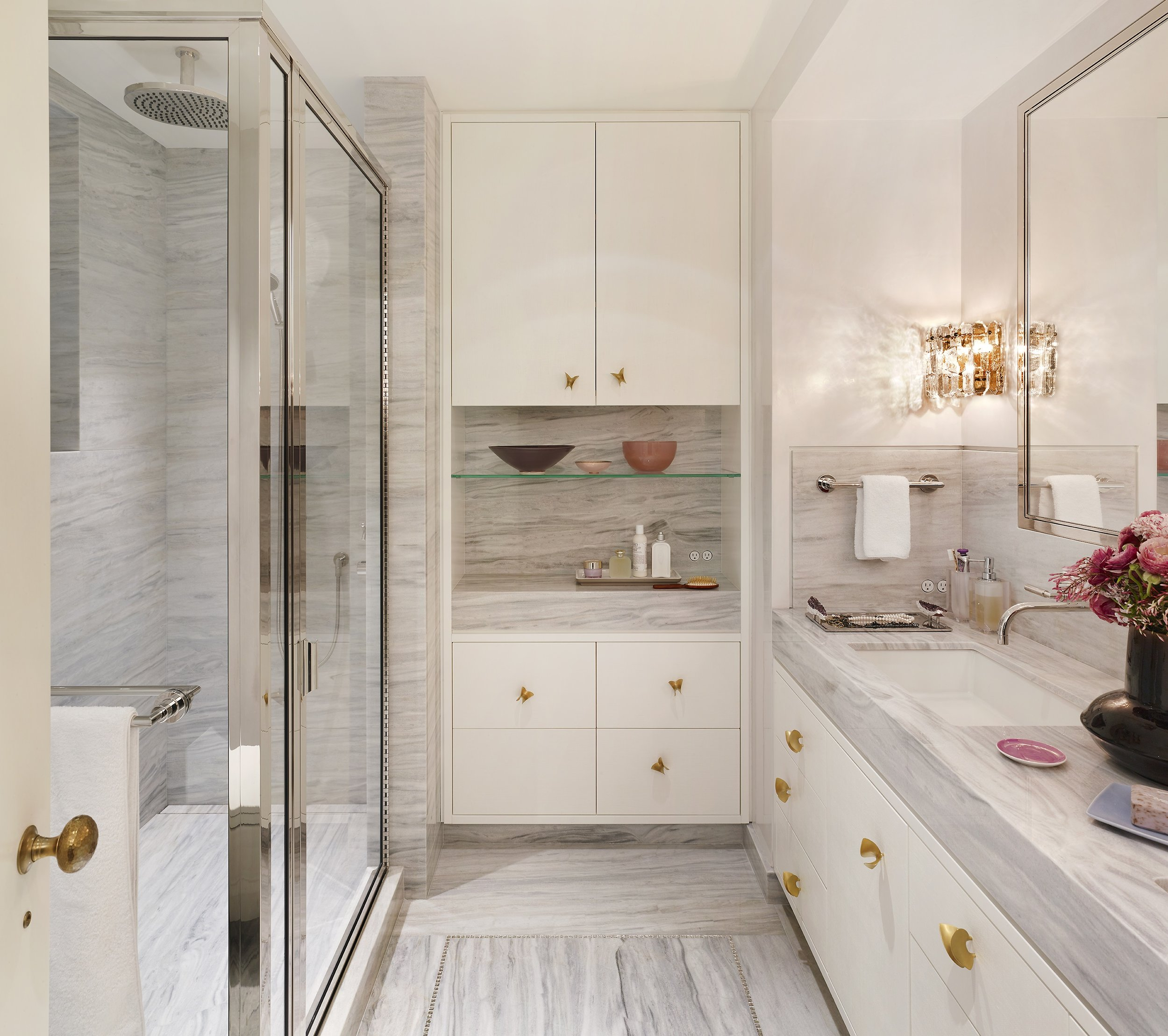 Stonefox 115 East 67th Street Wife's Bathroom MEP designed by 2L Engineering