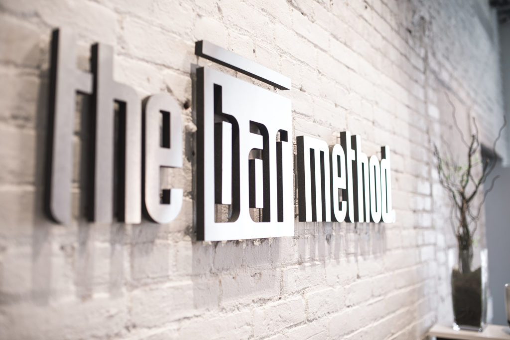 The Bar Method logo at their Williamsburg location where MEP engineering services were provided by 2L Engineering.