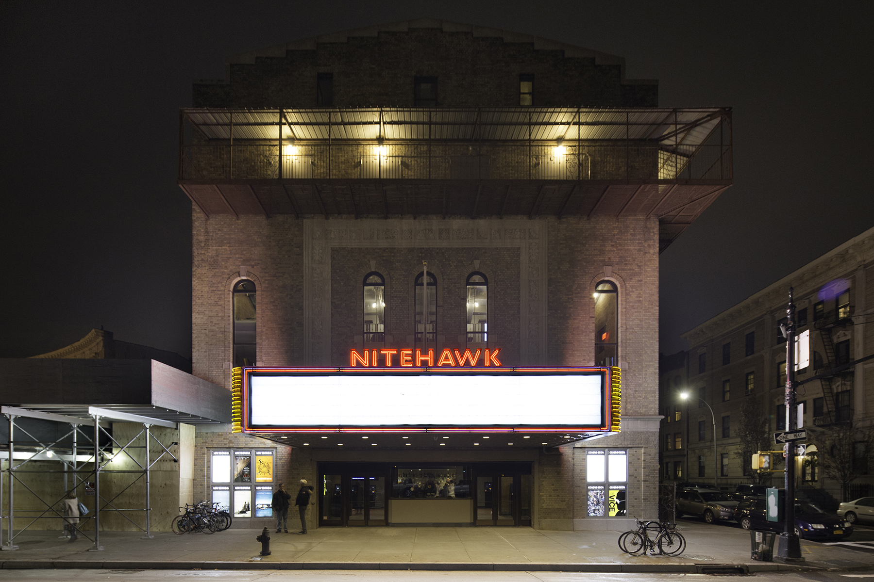 Exterior of the Nitehawk Cinema at 188 Prospect Park West, Brooklyn, NY where 2L Engineering provided MEP-FP engineering services to support the renovation.