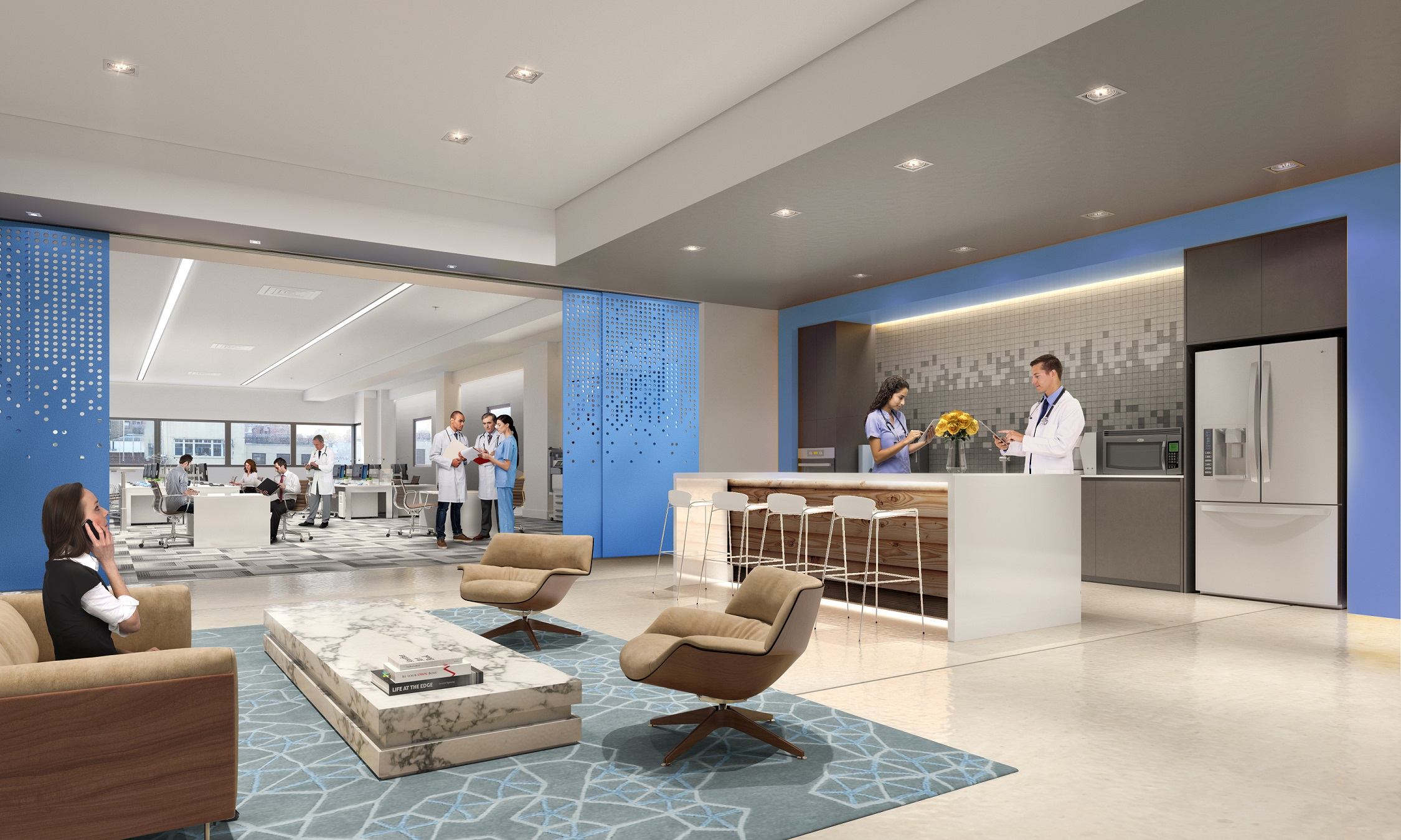 Rendering of Park Sixty Medical, located at 110 East 60th Street with MEP engineering services provided by 2L Engineering