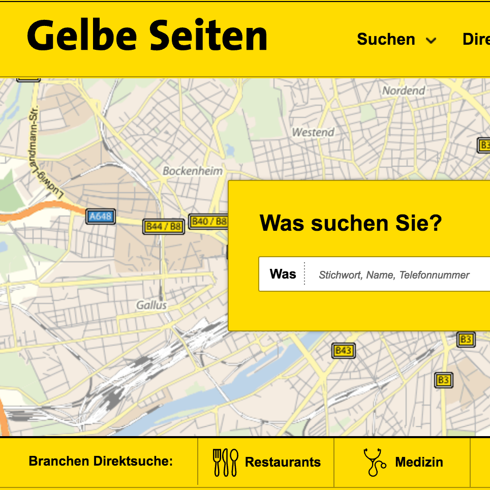 Yellow Pages Austria - Responsive Website design