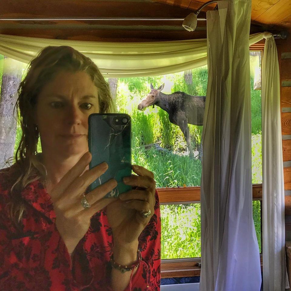 Post-shower moose moment…