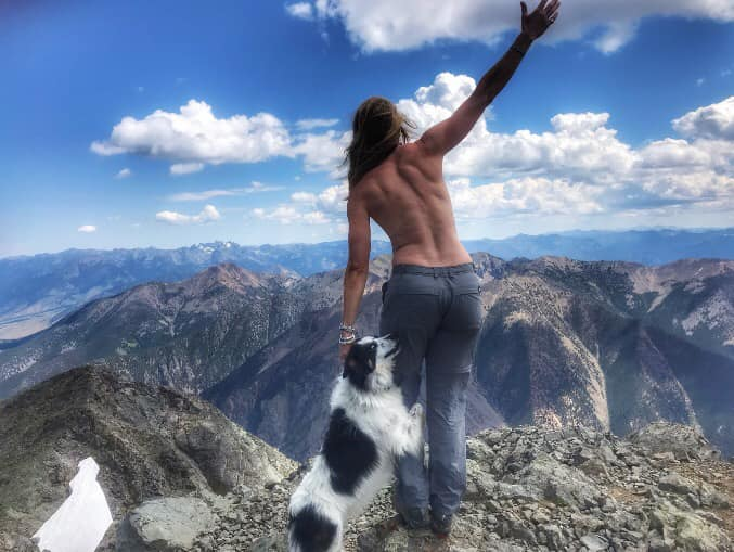 Taken by my niece Kiera - 26 years after my last summit of this peak - pure joy taking Kiera up for her first summit of Emigrant Peak.