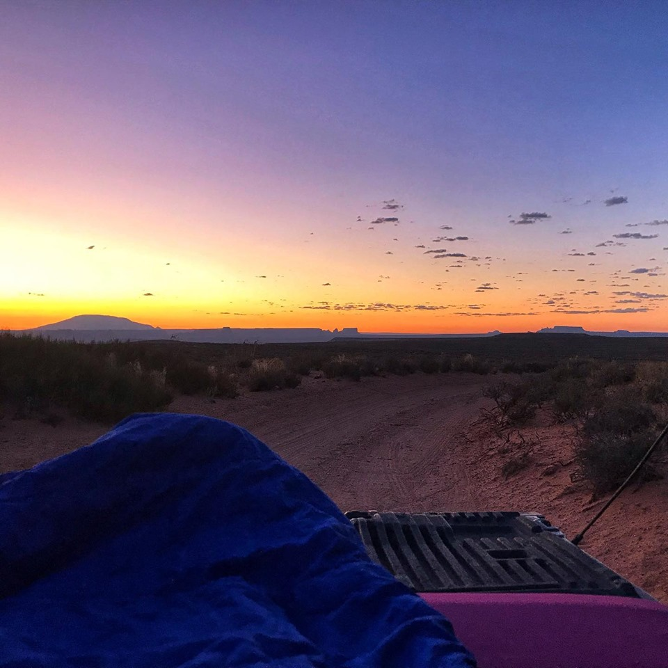 Sunrise from my truck bed