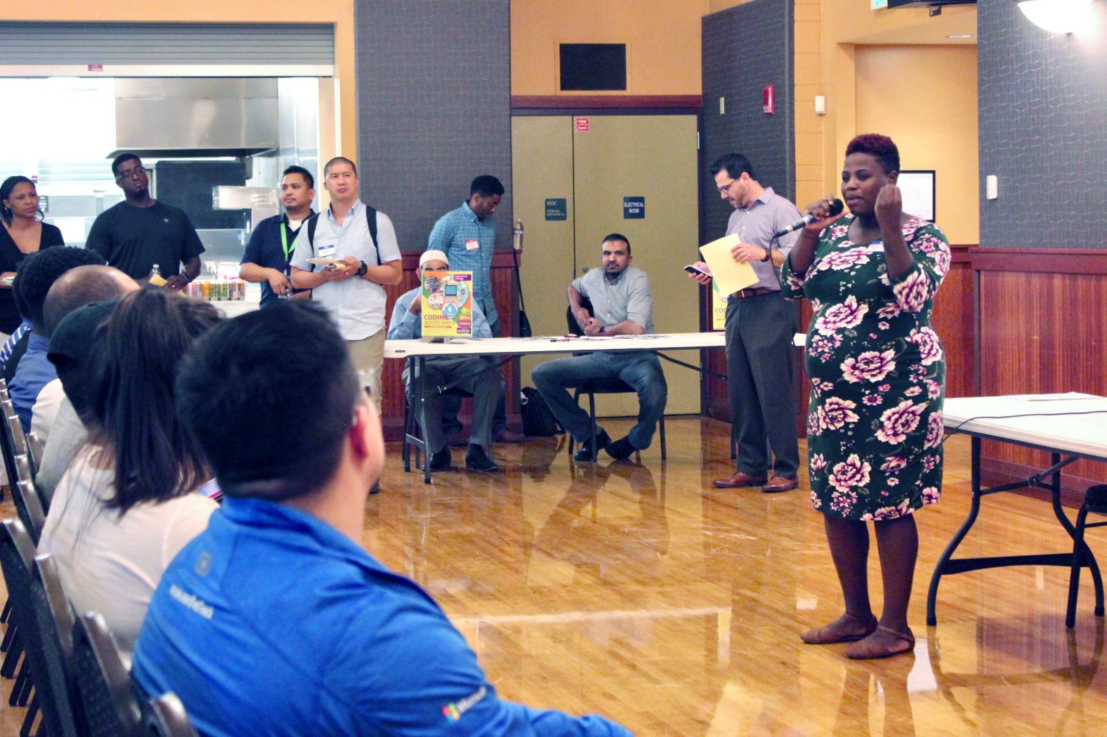 Shaunt'e Nance-Johnson shares her story in an inspiring welcome speech.